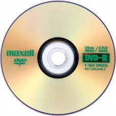 DVD-R MAXELL 4,7 GB x 10 pcs