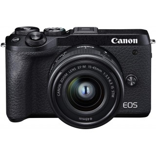 CANON EOS M6 Mark II 15-45 IS STM Black + electronic viewfinder EVF-DC2
