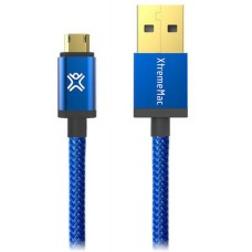 Cable microUSB2.0 - 1.2m - XtremeMac Blue