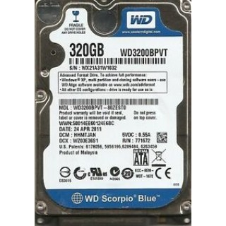 2.5 HDD 320GB Western Digital WD3200BPVT Scorpio Blue