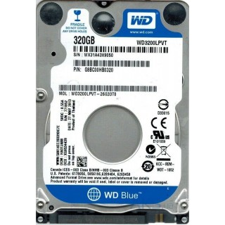 2.5 HDD 320GB  Western Digital WD3200LPVT