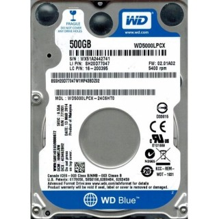2.5 HDD 500GB Western Digital WD5000LPCX