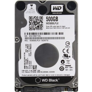 2.5 HDD 500GB  Western Digital WD5000LPLX, Black™