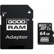 GoodRAM 64GB microSDHC Class10+ SD adapter
