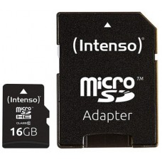 Intenso® 16GB microSD + SD Adapter Class10