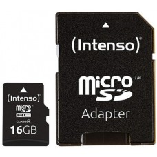 Intenso® 16GB microSD + SD Adapter Class4