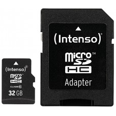 Intenso® 32GB microSD + SD Adapter Class10