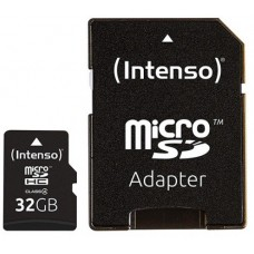 Intenso® 32GB microSD + SD Adapter Class4