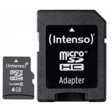 Intenso® 4GB microSD + SD Adapter Class10