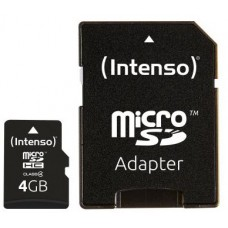 Intenso® 4GB microSD + SD Adapter Class4