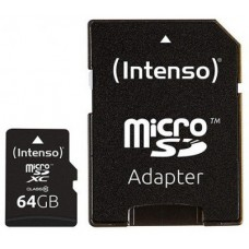 Intenso® 64GB microSD + SD Adapter Class10