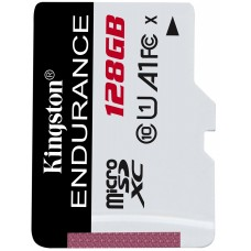 Kingston 128GB microSD Class10 A1 UHS-I FC High Endurance +SD adapter