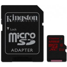 Kingston 128GB microSDXC Class10 U3 +SD adapter