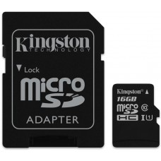 Kingston 16GB microSDHC Canvas Select Class10+SD adapter