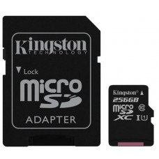 Kingston 256GB microSD Canvas Select Class10 UHS-I +SD adapter