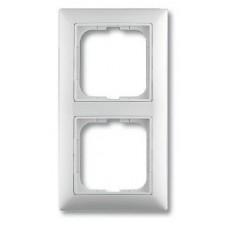 Рамка 2-поста горизонт/вертик. белая Basic-55