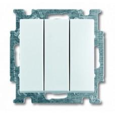 Механизм выключателя 3-х клавишный белый  BASIC55